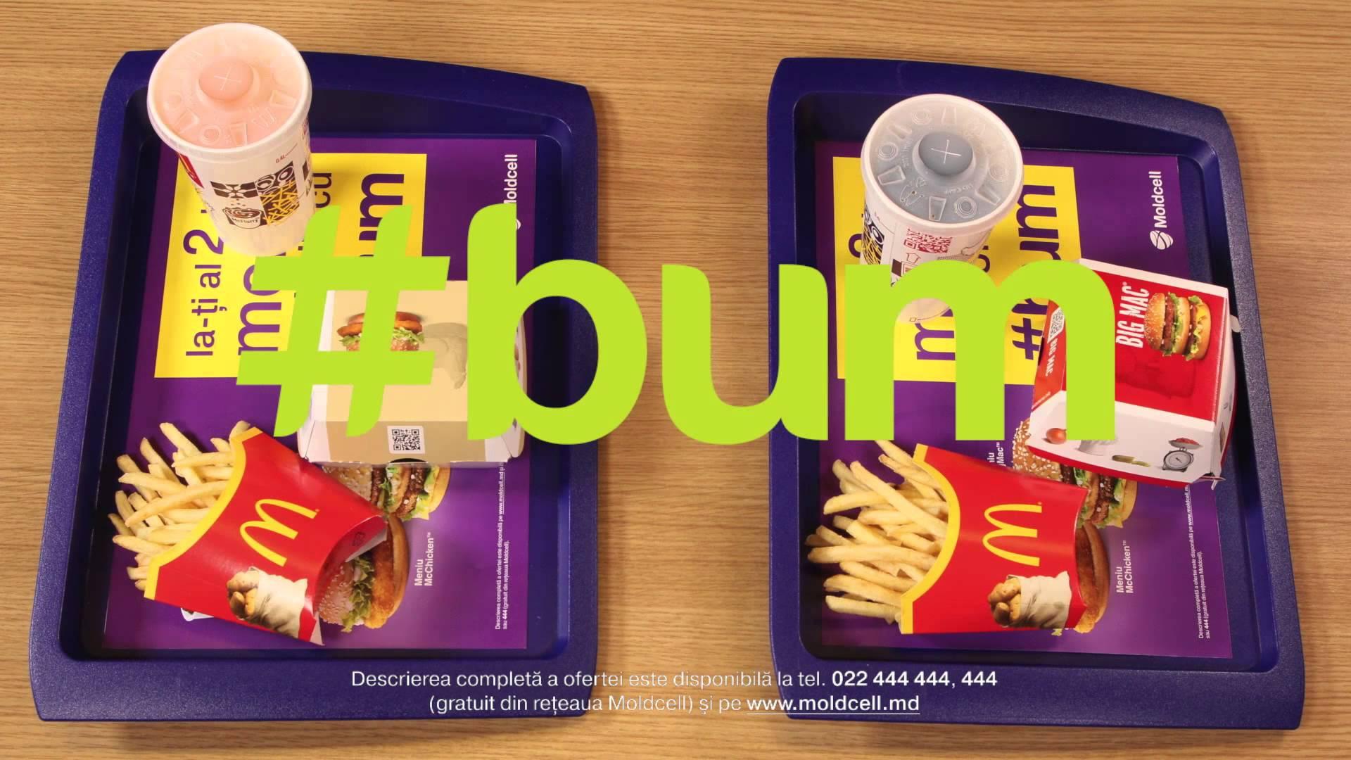 Ia-ţi al doilea meniu gratuit la McDonald's cu #bum de la Moldcell